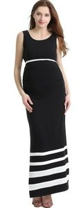 Maternity dress gown small black and white